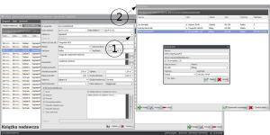 Zrzut ekranu nr 2 - Okno szczegółów wpisu - uruchomienie modułu kontaktów