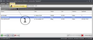 Zrzut ekranu nr 1 -Menu programu - uruchomienie modułu kontaktów