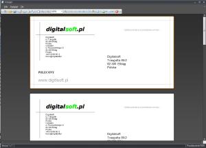 Zrzut ekranu nr 2 - Wydruk koperty o formacie DL 225x110mm.