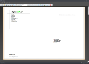 Zrzut ekranu nr 6 - Wydruk koperty o formacie 110x170mm.
