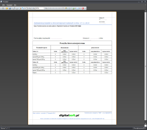 Zrzut ekranu nr 3 - Wydruk przesyłek nierejestrowanych.